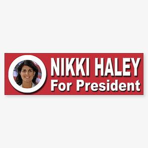 Nikki Haley for President Sticker (Bumper 50 pk)