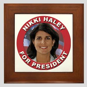 Nikki Haley for President Framed Tile