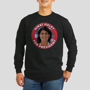 Nikki Haley for President Long Sleeve Dark T-Shirt