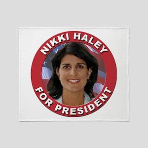 Nikki Haley for President Throw Blanket