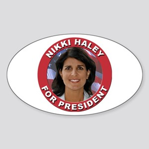 Nikki Haley for President Sticker (Oval)