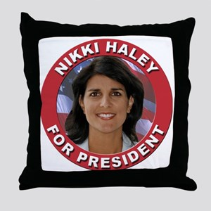 Nikki Haley for President Throw Pillow