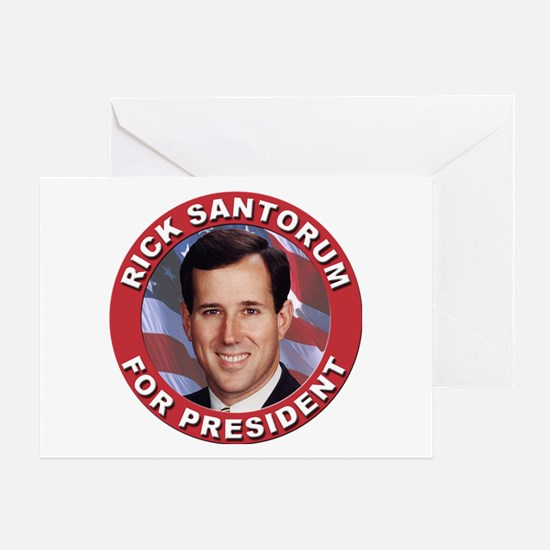 Rick Santorum for President Greeting Card