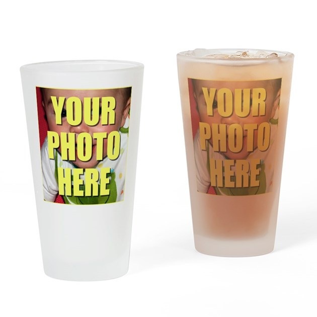custom photo pint glass by flippin sweet