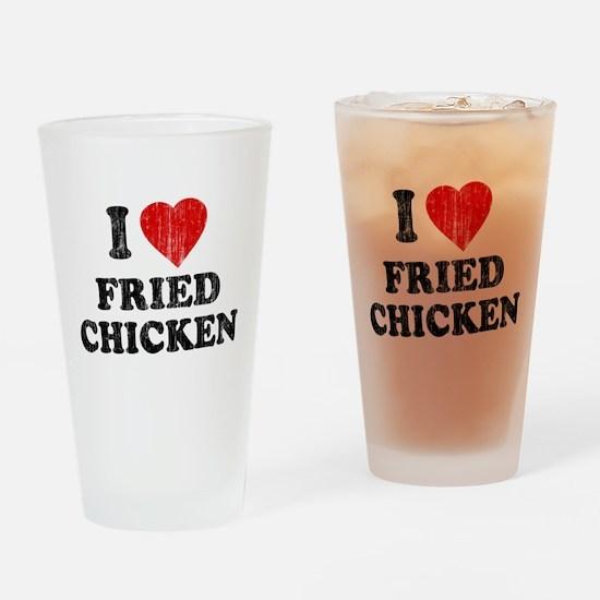I Love [Heart] Fried Chicken Pint Glass