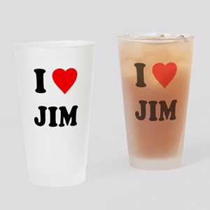 I Love Jim Pint Glass