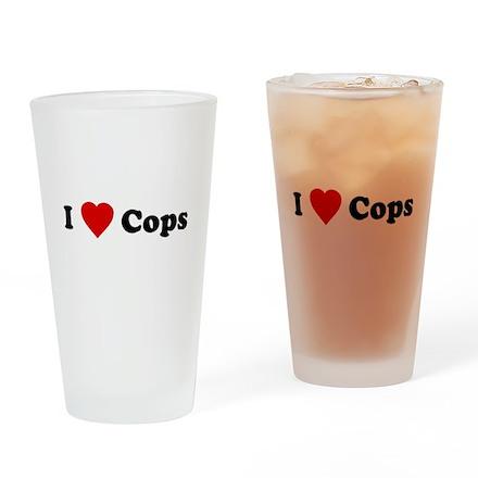 I Love [Heart] Cops Pint Glass