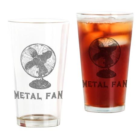 Metal Fan Pint Glass