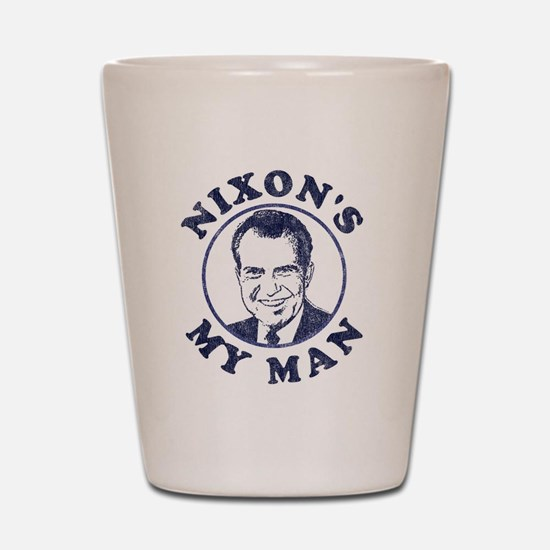 Nixon's My Man T-Shirt Shot Glass