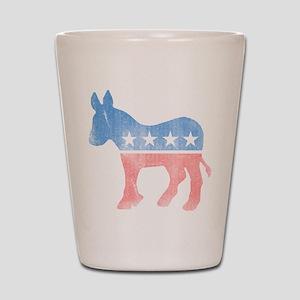 Democratic Donkey Shot Glass