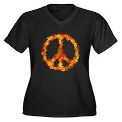 cnd reds Women's Plus Size V-Neck Dark T-Shirt
