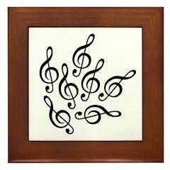 MUSIC IS SEVENTH HEAVEN Framed Tile