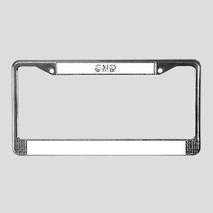 CND letters License Plate Frame