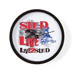 Live 2 Sled Sled 2 Live Snowmobiler Wall Clock