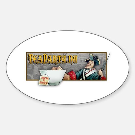 TeaParty.nu Sticker (Oval)