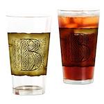 Celtic Letter B Pint Glass