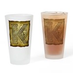 Celtic Letter K Pint Glass