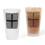 Celtic Square Cross Pint Glass