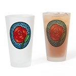 Celtic Rose Stained Glass Pint Glass