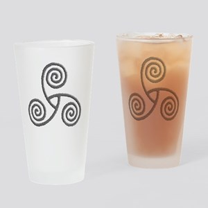Celtic Triple Spiral Pint Glass