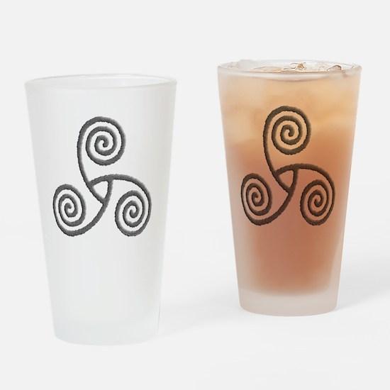 Celtic Triple Spiral Pint Glass