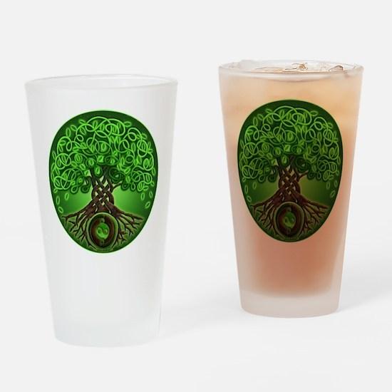 Circle Celtic Tree of Life Pint Glass