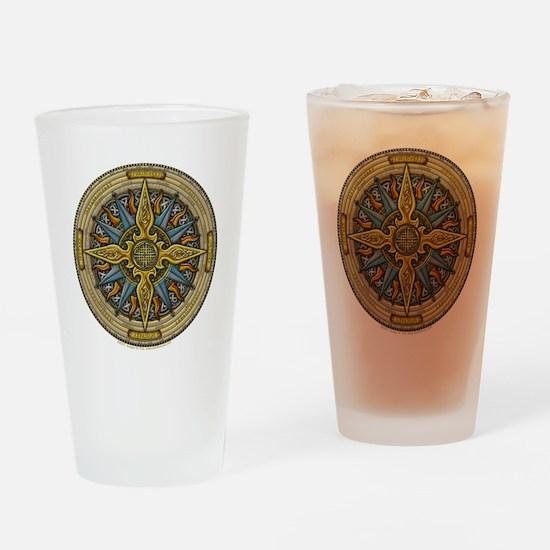 Celtic Compass Pint Glass