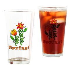 Spring Flowers Pint Glass