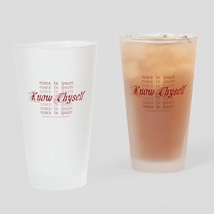 Know Thyself (Latin) Pint Glass