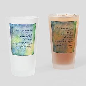Inspirational Thoreau Quote Pint Glass