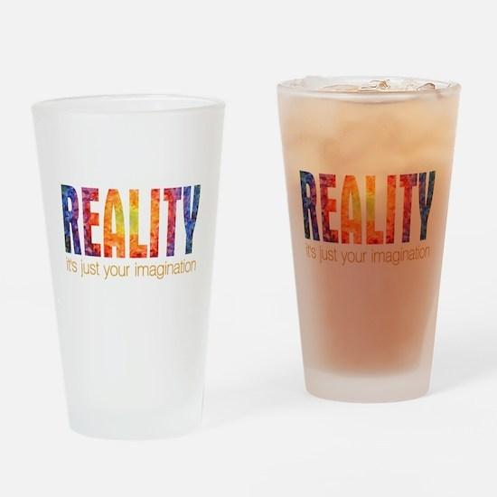 Reality Imagination Pint Glass
