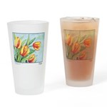 Tulips Watercolor Pint Glass