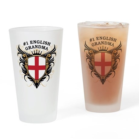 Number One English Grandma Pint Glass