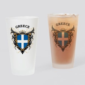 Greece Drinking Glass