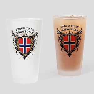 Proud to be Norwegian Pint Glass