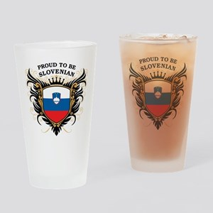 Proud to be Slovenian Pint Glass