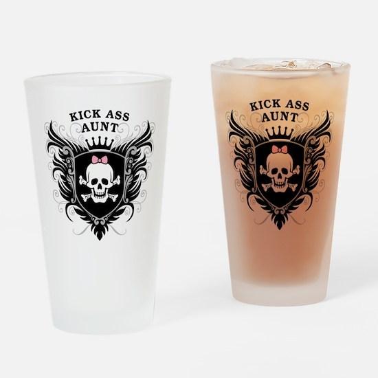 Kick Ass Aunt Drinking Glass
