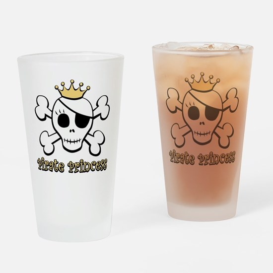 Funny Pirate Princess Pint Glass