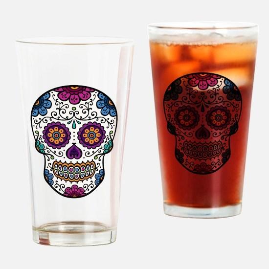Sugar Skull Pint Glass