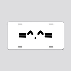 Kitty Cat Face Aluminum License Plate