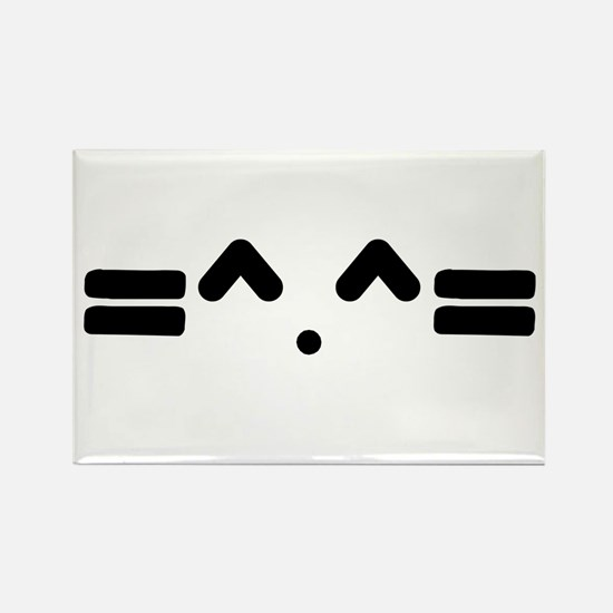 Kitty Cat Face Rectangle Magnet