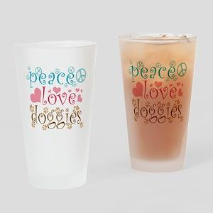 Peace Love Doggies Pint Glass