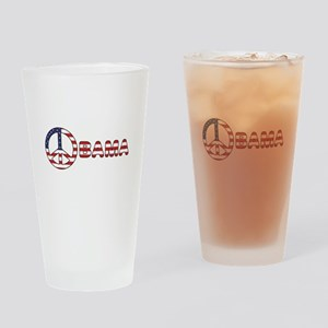 Obama Peace Sign Pint Glass