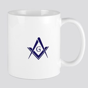 Modern Square & Compasses Mug