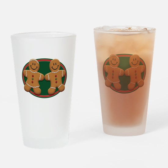 Gingerbread Couple Pint Glass