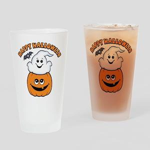 Ghost In Pumpkin Pint Glass