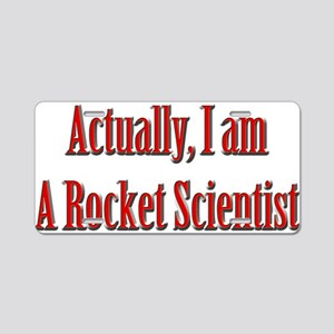 Rocket Scientist Aluminum License Plate