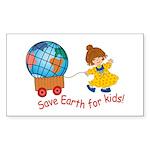 World For Kids Rectangle Sticker