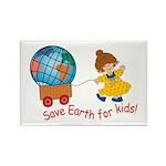 World For Kids Rectangle Magnet