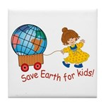 World For Kids Tile Coaster